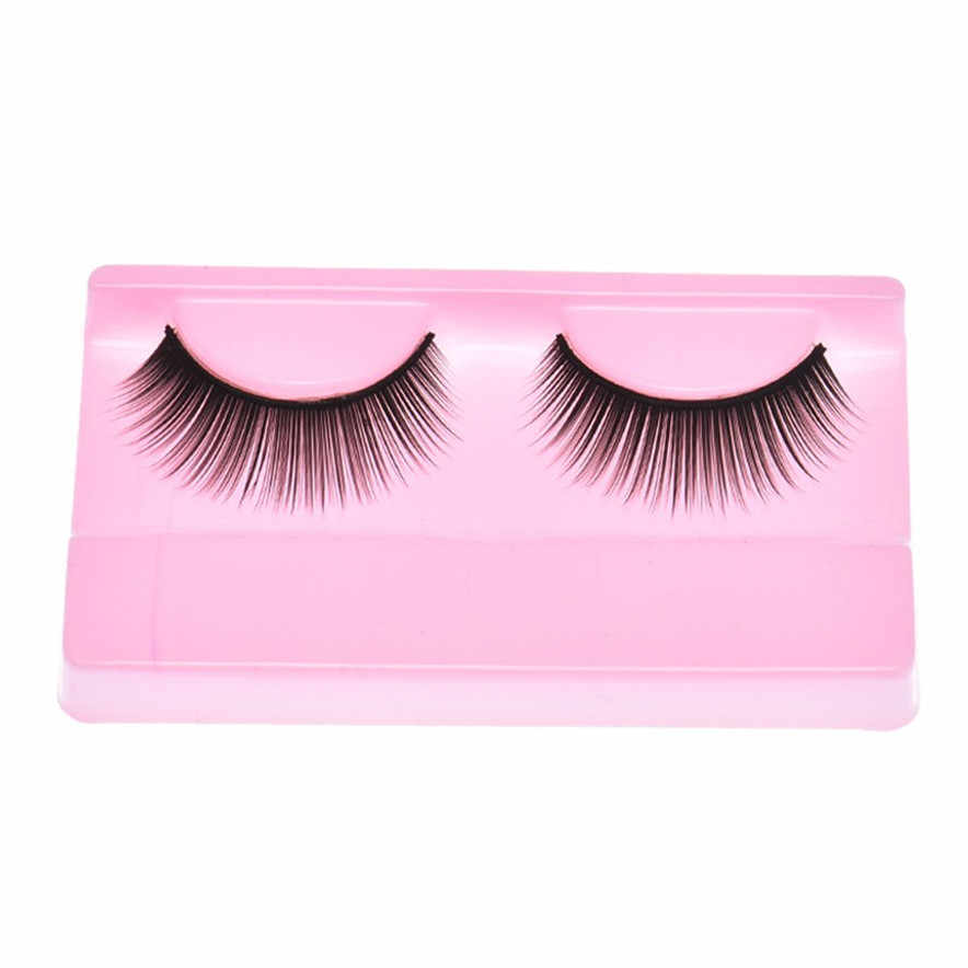 OutTop best seller Natural Beauty  Dense A Pair False Eyelashes Makeup Handmade Thick Fake False Eye Lashes Cosmetic # G4 1.5 10