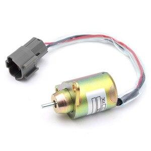 1 Pc 12 V samochód zawór odcinający dopływ paliwa w dół zawór elektromagnetyczny metalowe dla Hyundai Daewoo Komatsu do wymiany Yanmar 11923377932 1503ES-12S5SUC12S
