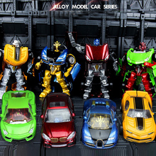Anime Transformation Robot Car Action Figure  Deformation Car Robot warrior Classic model Children Robot Toys Gift for Boy deformation toys king kong 4 league level ground lamp robot car model children toy boy gifts