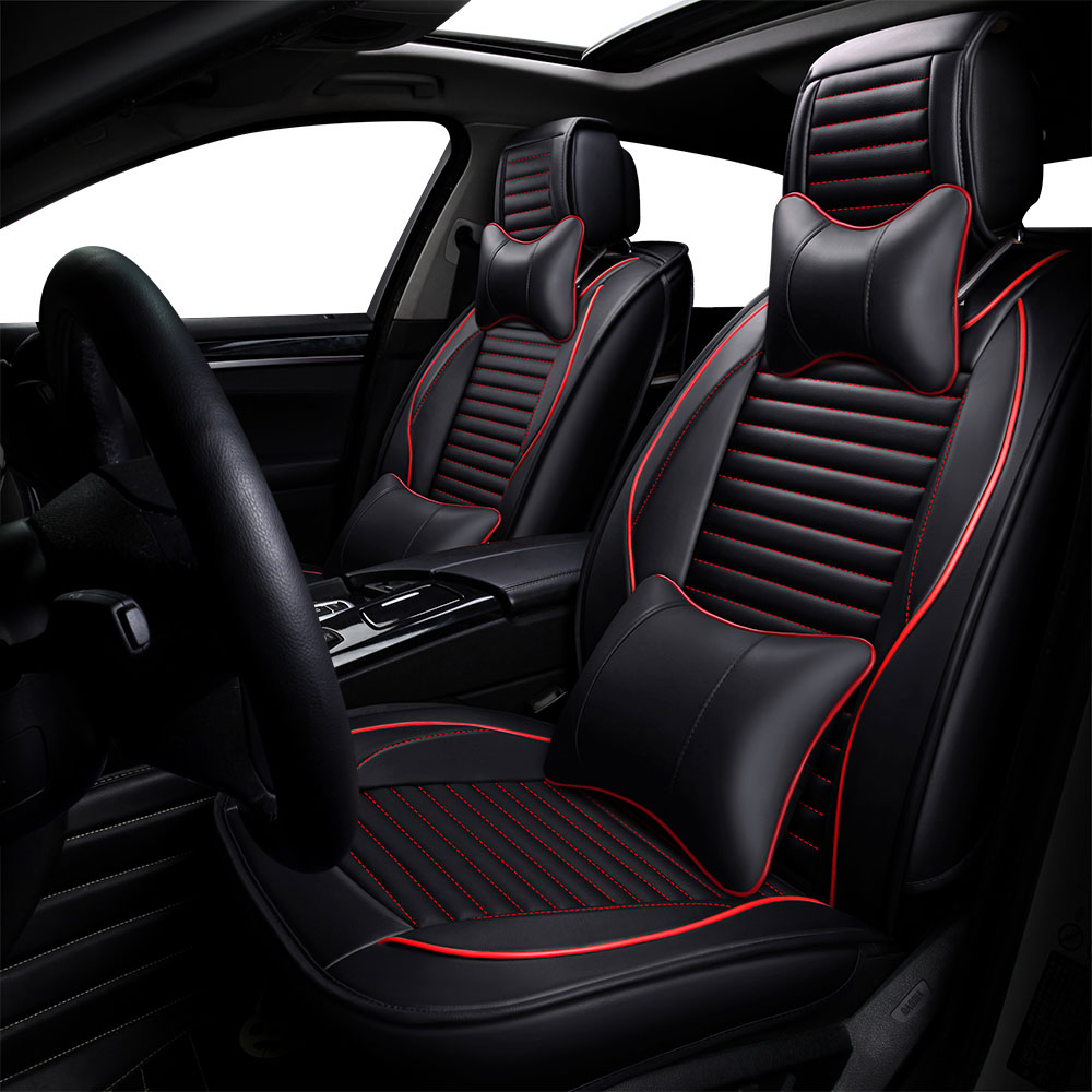 2 x Fronts For Mini Cooper S Heavy Duty Black Pair Waterproof Car Front Seat Covers Protectors
