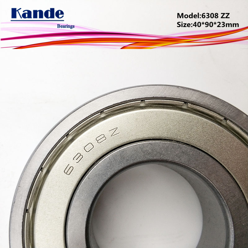 Kande 6308ZZ 2PCS ABEC-5 6308 2Z Single Row Deep Groove Ball Bearing 40x90x23 mm 6308Z Bearing thrust bearing factory direct sale 6306 6306zz 6306z 6306 2z 80306 30 72 19 mm high quality deep groove ball bearing 2pcs lot