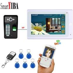 SmartYIBA приложение дистанционное управление дюймов 7 дюймов мониторы Wi Fi Беспроводной видео телефон двери дверные звонки домофон комплект