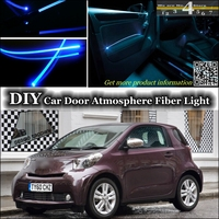 interior Ambient Light Tuning Atmosphere Fiber Optic Band Lights For TOYOTA iQ For Scion iQ For Aston Martin Cygnet Inside Door