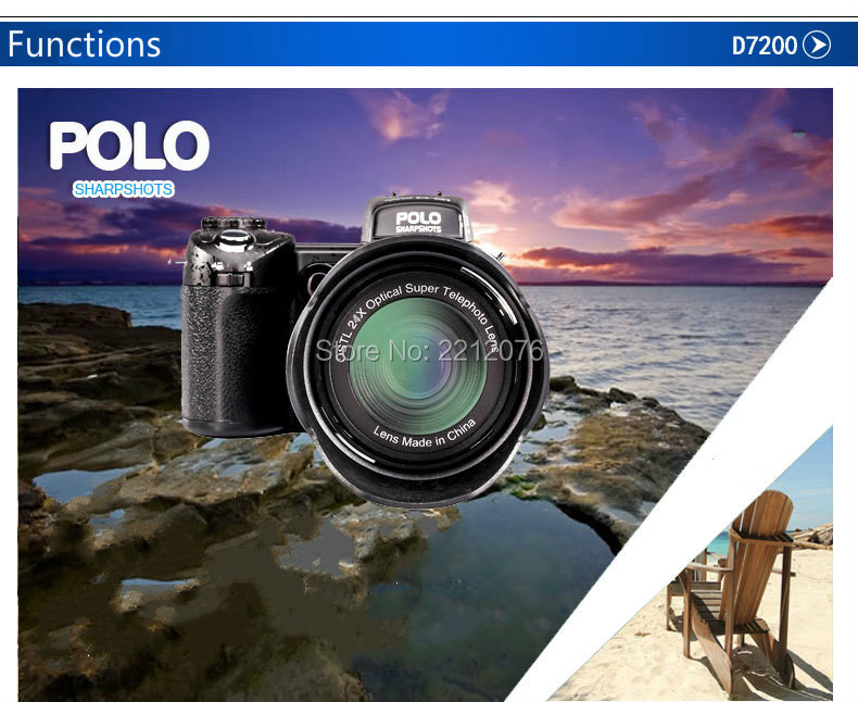 D70 Digital Video Camera 24X optical zoom 33MP interpolated home camera camcorder HD LED headlamps HD camera free shipping 6