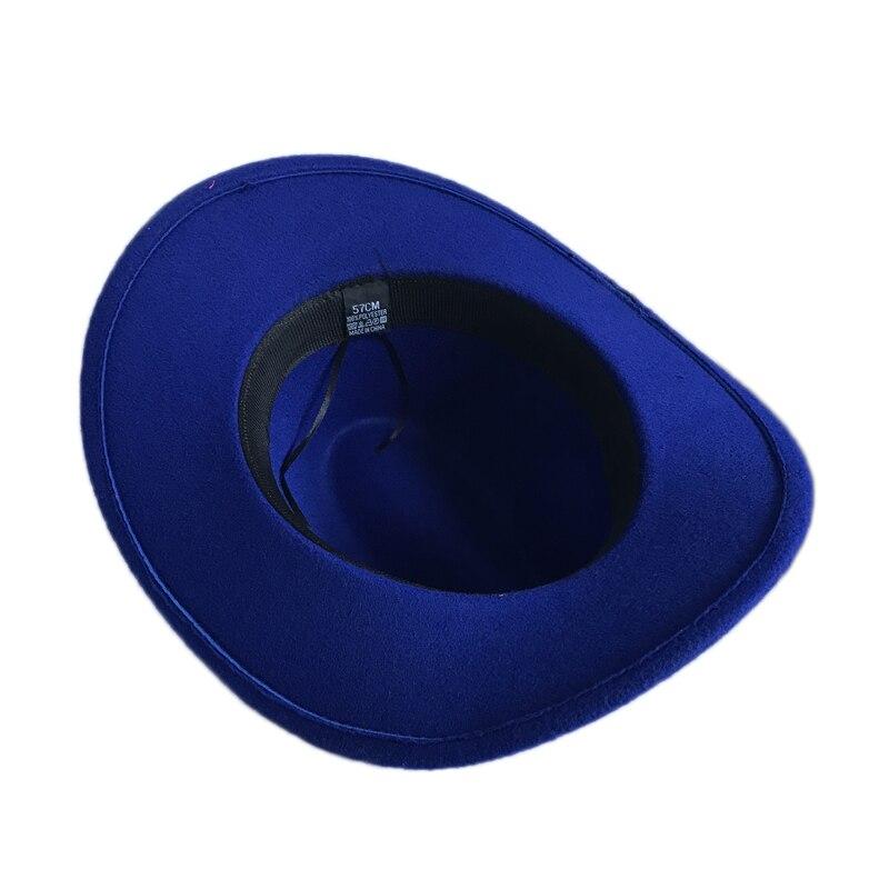6e65fe439 Casual Winter Hat For Women Vintage Trilby Cap Men Western Cowboy Hat Autu  Fedora Jazz Cap Chapeus para os Homens YY17170