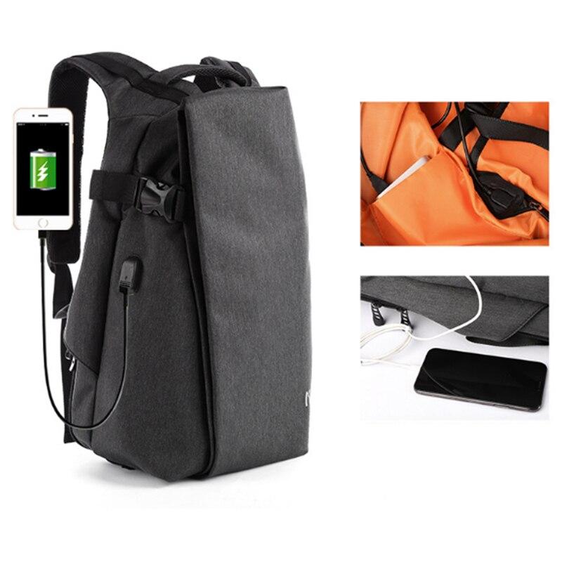 Image 2 - Мужской рюкзак для мальчиков, сумка через плечо, usb зарядка, сумка для ноутбука, модная сумка для ноутбука, для путешествий на открытом воздухе, Оксфорд, Спортивная, водонепроницаемая, 14 дюймов-in Сумки и чехлы для ноутбука from Компьютер и офис