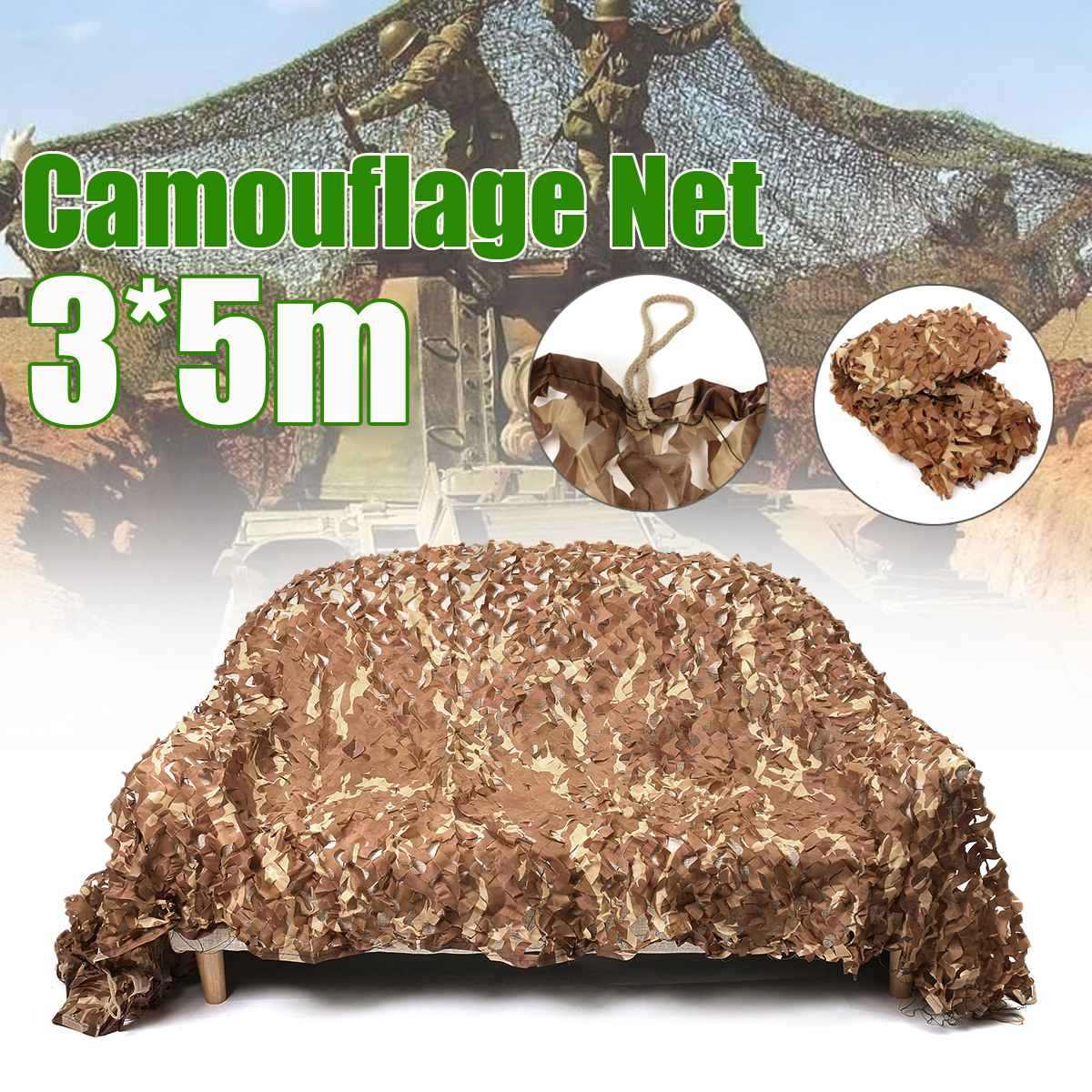 Outdoor Camping Camo Net Jungle Leaves Desert Woodland Camouflage Net Double Layer Shade Sail For Military Cloths Car Covering