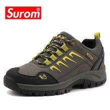 SUROM Genuine Leather Casual Shoes Suede Waterproof Warm Outdoor Sneakers Classic Heren Schoenen Mannen Krasovki Merkschoenen