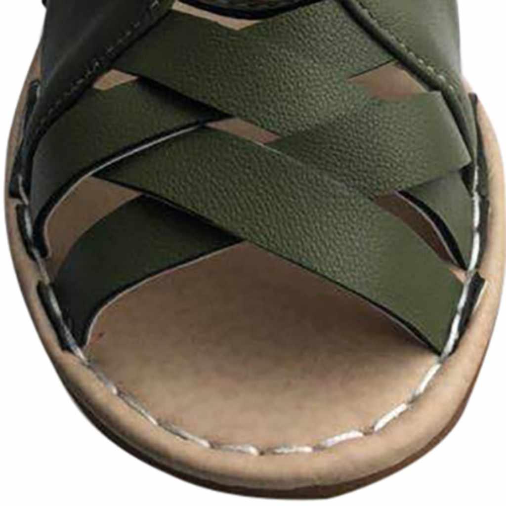 SAGACE נעלי נשים שטוח 2019 קיץ סנדלים עקב פיפ טו ליידי מקרית תחרה עד לקדש החוצה נעלי Zapatos Dropship may21