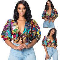2019 neue ankunft sexy mode stil sommer afrikanische frauen polyester plus größe t-shirts S-XL