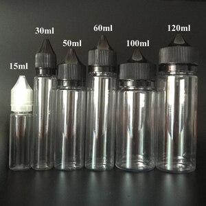Image 4 - 100 adet boş yağ E sıvı şişe 10ml 15ml 30ml 50ml 60ml 100ml 120ml kalem şekli plastik damlalık şişe E suyu için tırnak jeli