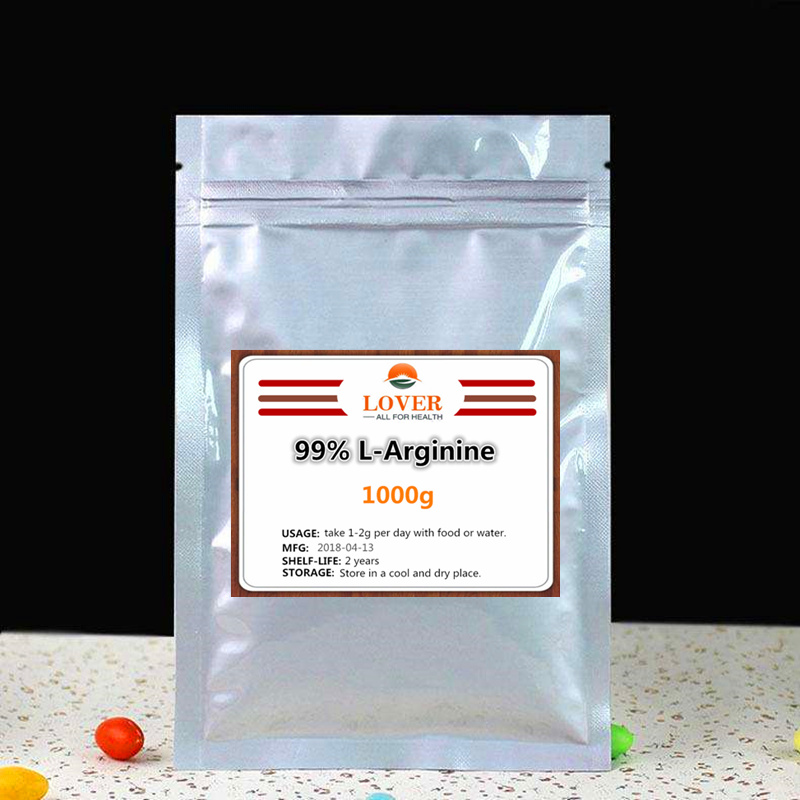 1000g Hight Purity 99% L-Arginine Powder,Essential Amino Acid,Food Grade Nutritional Supplement L arginine powder,Free shipping 1kg food grade l threonine 99% l threonine