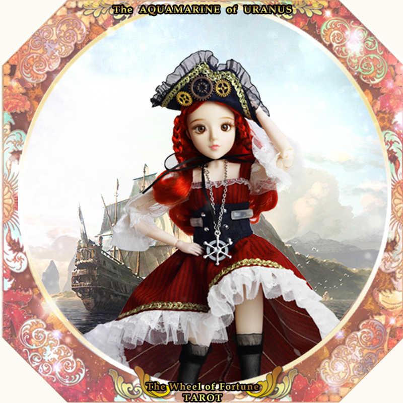MM Girl 1/6 BJD кукла Таро серия 30 см кукла с гибкими суставами название Колесо Фортуны красные волосы