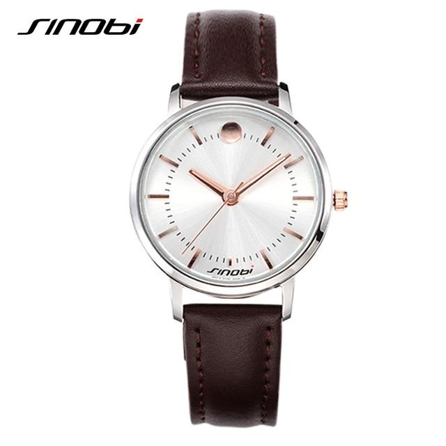 SINOBI Fashion Date Top Quality Couples Watch Business Shock Resistant Gentleman Watches Leisure Designer Waterproof Reloj Mujer