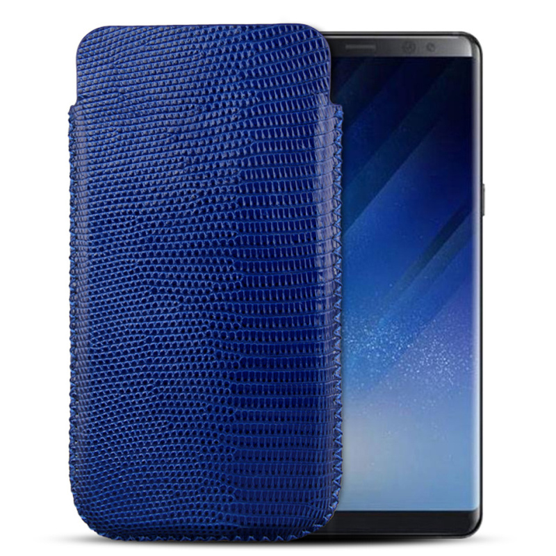 Private Customize Luxury Genuine Lizard Leather Phone Pouch Bag Case For iPhone 8 7 6 6s Plus For Samsung Galaxy Note 8 S8/ Plus