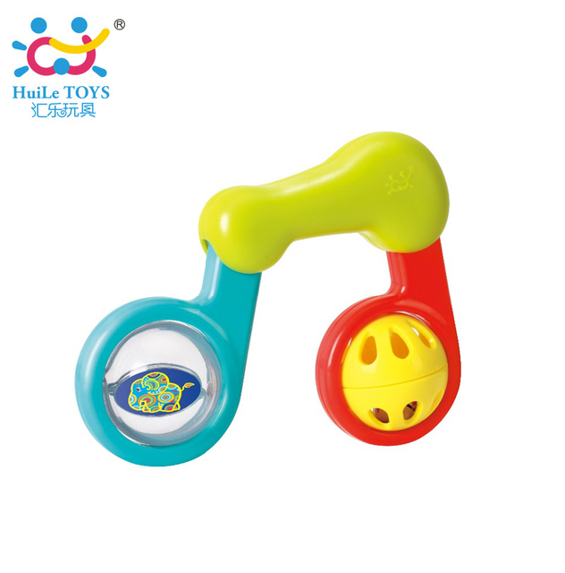 Lovely Plastic Baby Rattles Musical Note Rattle Toy inside Crystal Ball Development Toys For Newborn Educational Kids Toys Gifts