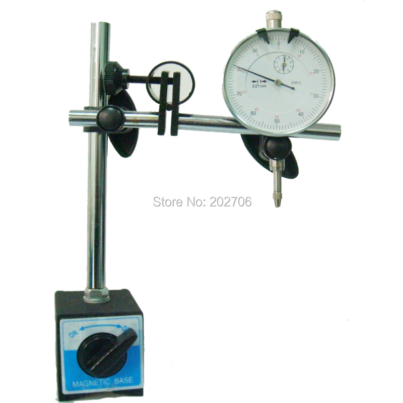 Drop shipping New Magnetic Base with 0 10MM Dial Indicator magnetic stand with indicator