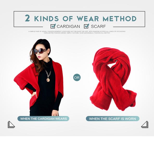 2017 New Fashion Women Casual Korea Loose Shawl Batwing Sleeves Lady Knit Sweater Coat Woolen Women Cardigans Jacket