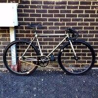 Медная оправа 700C фиксированная передача велосипедная дорожка см Односкоростной велосипед 48 см 50 см 52 см 56 см 58 см 60 см fixie bike винтажная DIY рам