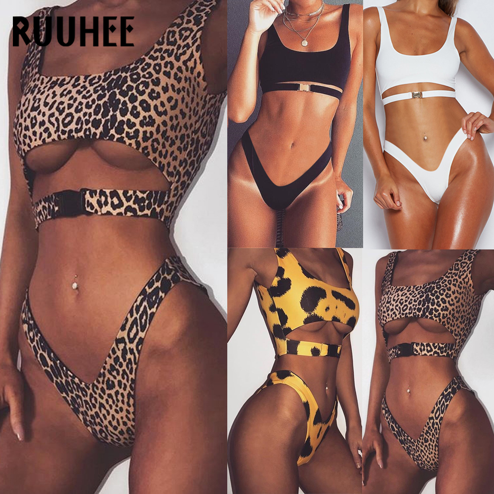 RUUHEE Bikini Swimwear Women Swimsuit 2018 Bathing Suit Push Up Sexy Bikini Set Female Beachwear Padded Swimming Suit For Women zaful sexy swimwear women gold stamping bathing suit bikini set swimsuit strapless padded push up bandeau summer beachwear