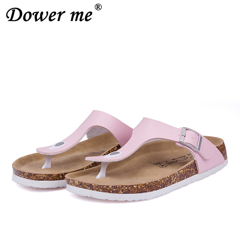 100% Cork New Summer style Fashion Women Flats Slippers unisex Beach Shoes Women Sandals Black white brown Flip flops size 35-43 fashion women slippers flip flops summer beach cork shoes slides girls flats sandals casual shoes mixed colors plus size 35 43