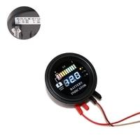 Круглый 5-100 в светодиодный цифровой индикатор батареи манометр на стороне нагнетания почасовая измеритель нагрузки инструменты