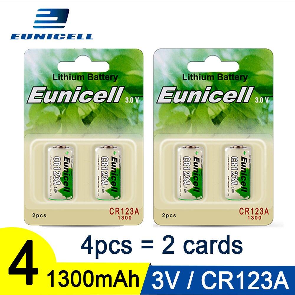4 piezas 3V 1300mAh CR123A batería CR17345 KL23a VL123A DL123A SF123 16430 para bolígrafo láser LED batería de litio Li-ion baterías 3S 20A 18650 Li-ion cargador de batería de litio Placa de protección 10,8 V 11,1 V 12V 12,6 V eléctrico 10A Lipo BMS PCB módulo PCM