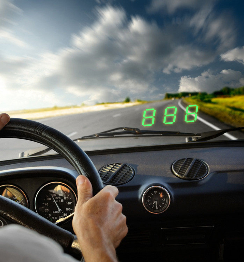 Ongebruikt Universal Auto HUD GPS snelheidsmeter - Topkoopje.nl MJ-61