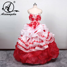 c7f31b7f5b Quinceanera Dresses 2016 Beaded Sweetheart Cascading Ruffles Debutante Gown  Party Dress 15 anos vestido