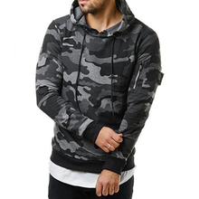 2018 New Autumn Winter Men Hoodies Sweatshirt Fashion Camouflage Military Tracksuit Casual Pullover Male Hooded