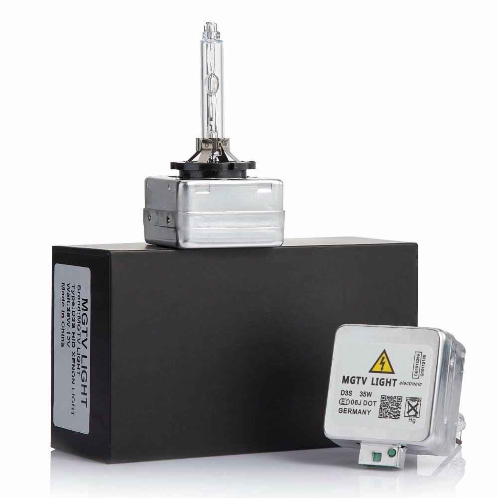 100% Original 2 PCS 12 V D1S D1C D2S D3S D4S 35 W ESCONDEU lâmpada xenon lâmpada de farol de carro 4300 K, 6000 K, 8000 K ESCONDEU lâmpada de substituição