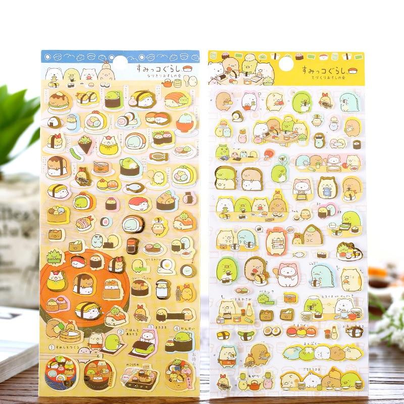 New 1pcs Kawaii Scrapbooking Corner Creature Ver 3 Planner Stickers/decoration Label/cartoon Korea Stationery/san-x Memo Pads