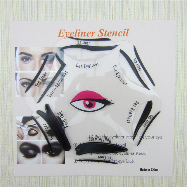 6 in 1 Stencils Eyeliner Template Smoky Makeup Guide Cat Eye Liner Quick Tool Hot Sale New 3