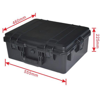 Inner Size 500 400 210mm Hard Shipping Case With Full Standard Cubes Foam