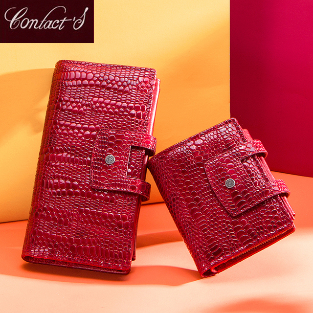Genuine Leather Women Wallets Female Long Clutch Portomonee for Girls Zipper Coin Purse Brand Lady Walet Card Holder Phone Bag