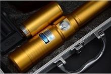high powered blue laser pointer 1000000mw/1000w 450nm Flashlight adjustable burning match/dry wood/black plastic/burn cigarettes