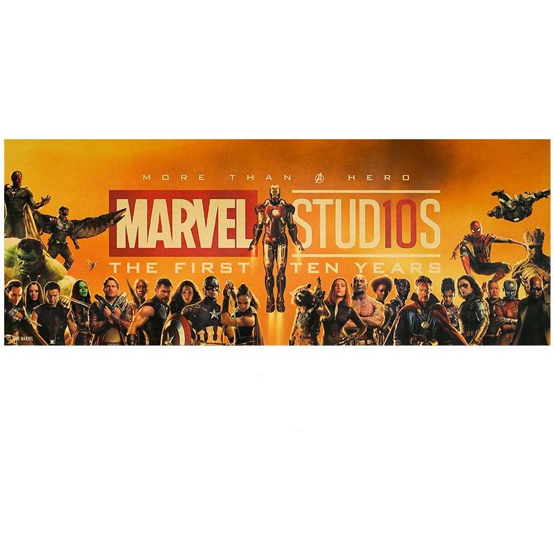 The Avengers 4 Endgame Marvel Figures Toys  Iron Man Captain America Spiderman Vintage Kraft Paper Home Decor Kids Toys