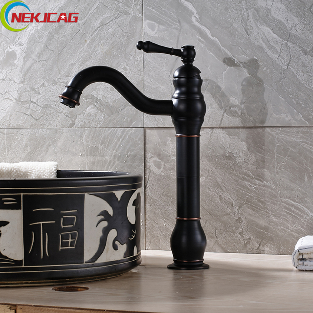 Wholesale and Retail Oild Rubbed Bronze Waterfall Bath Faucet Tall ...