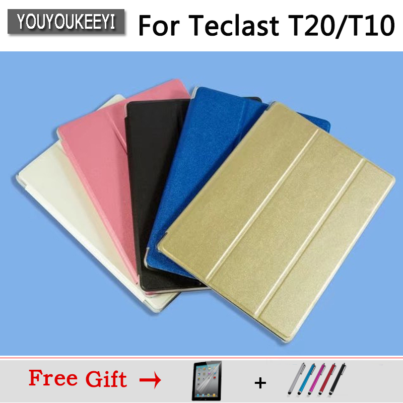 Ultra Slim PU Case Stand Cover For Teclast T20/ T10 10.1inch Tablet ,5 Colors Available, Protector Film+Stylus Gifts