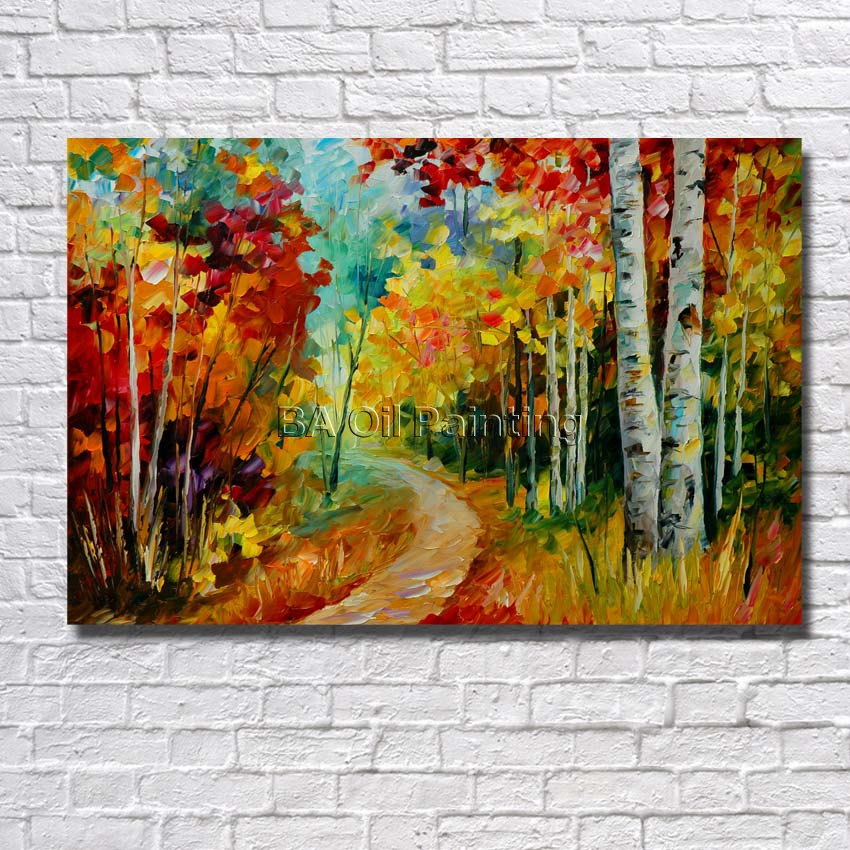 Envío gratis abstracta moderna de la pintura al óleo larga pequeño ...