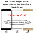 10 PCS White/Black/Gold For Xiaomi Hongmi Note 4 / Redmi Note 4 / Red Rise Note 4 Digitizer Touch Screen Display Replacement