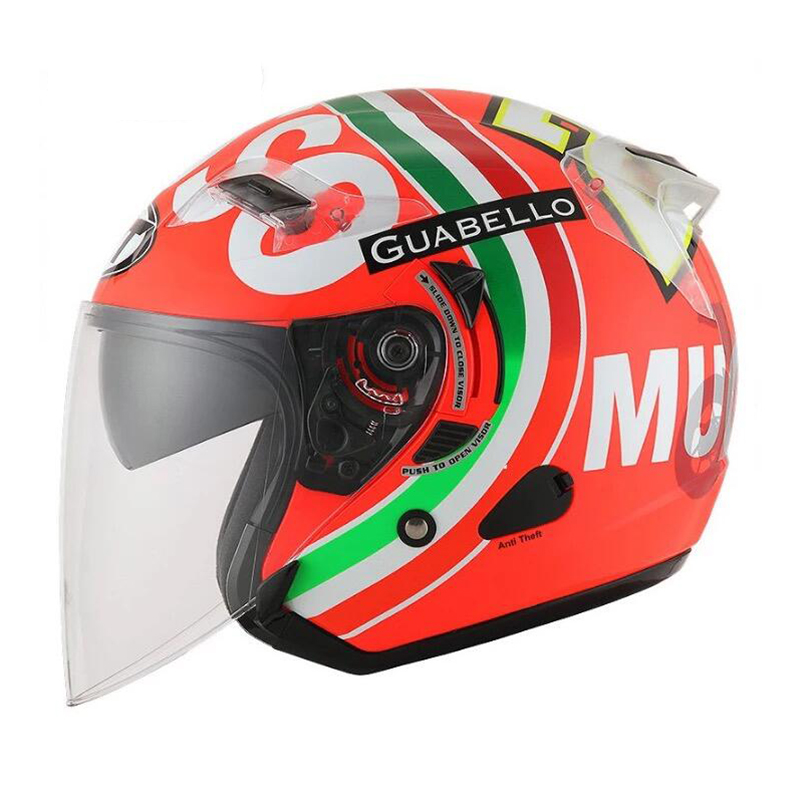 KYT Motorcycle Helmets Electric Bicycle Helmet Open Face Dual Lens Visors Men Women Summer Scooter Motorbike Moto Bike Helmet ...