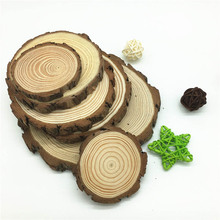 5pcs Unfinished Natural Round Wood Slices Diy Craft Decorations For Birthday Party Wedding Gift Tags DIY Crafts Painting