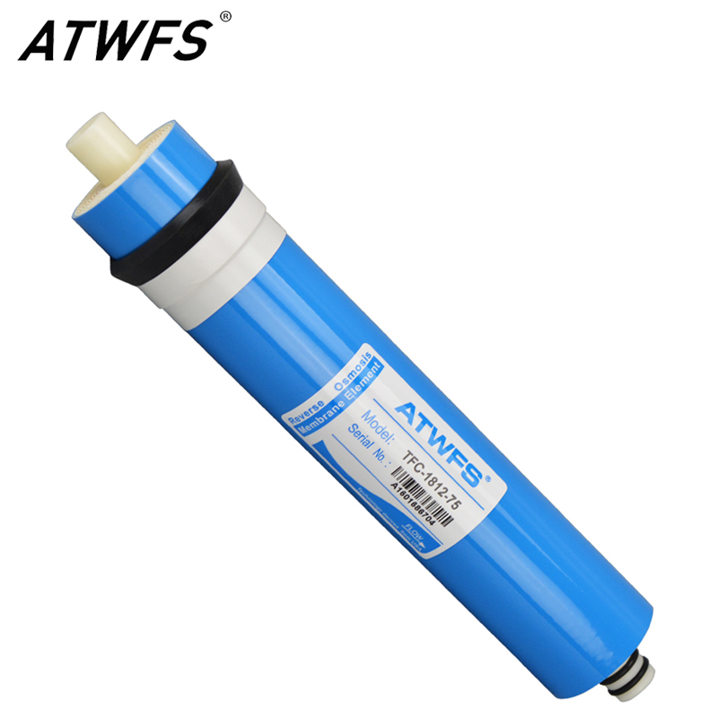 ATWFS High Quality 75 gpd RO Membrane Reverse Osmosis Membrane System Water Filter Cartridge TFC-1812-75 hmtec ro reverse osmosis membrane filter 1812 50g 75 2012 100 125 150