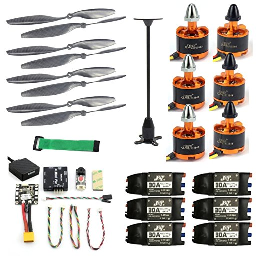 цены Copter Kits Radiolink Mini PIX M8N GPS Flight Control 920KV Brushless Motor 30A ESC 10x4.5 Propeller for 6-axis RC Quadcopter