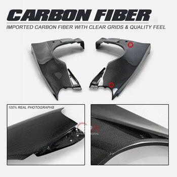 Ventilação carbono Fenders Para Nissan Skyline GTR R34 BNR34 BV2 Estilo Fibra De Carbono Frente Ventilada Fender Corpo Kit Tuning R34 GTR Racing