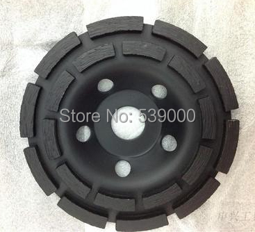Free shipping 7 concrete diamond grinder cup wheel 180mm, grinding discs tools for concrete,marble,granite 2pcs 5inch diamond single row cup wheel for concrete masonry diamond grinding wheel diameter 125mm bore 22 23mm grinding disc