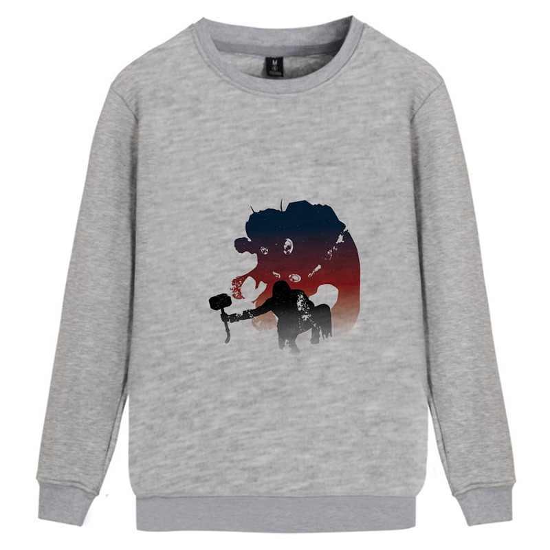 Hawkeye Hulk Captain Thor Marvel Avengers Graffiti O-NECK Cotton Sweatshirts Teen Leisure Unisex hoodie A193291