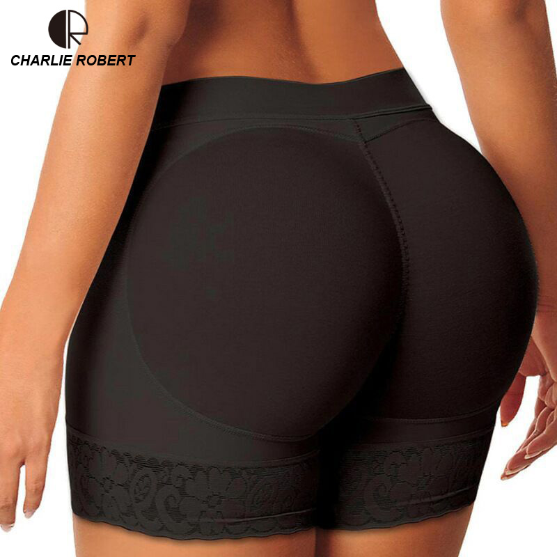 CR 2pcs Shaper Pants Sexy Boyshort Panties Woman Fake Ass Underwear Push Up Padded Panti ...