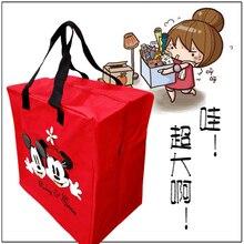 Novas Mulheres Reutilizável Shopping Bag Dobrável bolsa de Moda Micky Minnie Dos Desenhos Animados Dobrável Reciclar Bolsas saco Grande Saco de Viagem